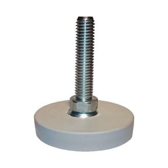 Stellfuß M12x50mm, grau - fußbodenschonend