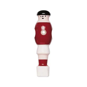 Kickerfigur Holz - rot/weiß