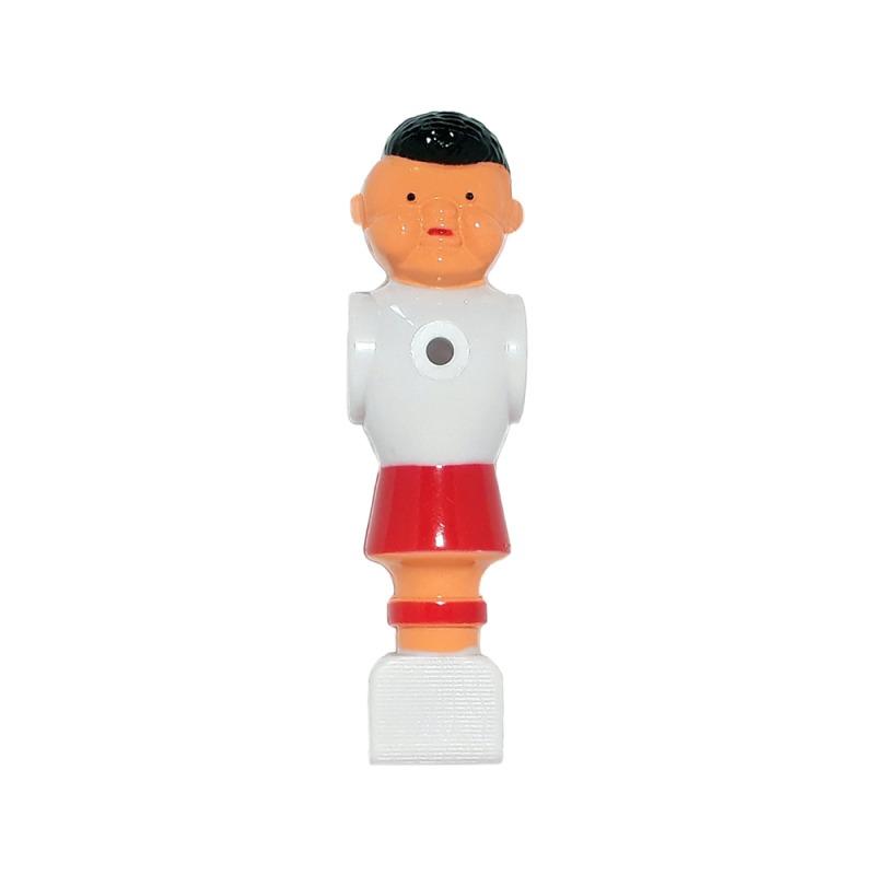 22 Kickerfiguren Champion weiß//blau und weiß//rot Kicker Figur 16mm Kickerstangen