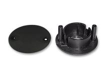 Abdeckungen (außen und innen) für die Roll-Lager bei Tischen mit Teleskopstangen